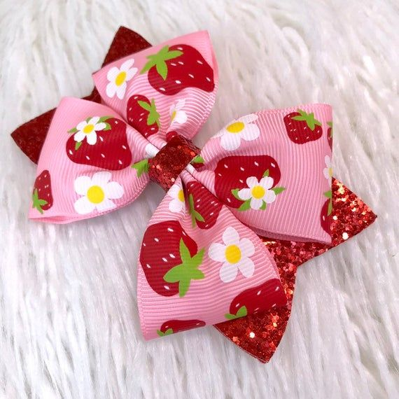 Red with Pink Felt Bow Red and Pink Infant Headband