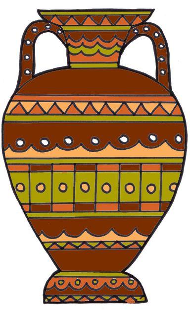 ancient greek urn art
