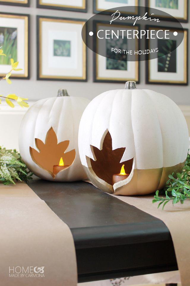 DIY Pumpkin Centerpiece for the holidays