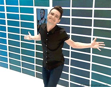 Brendon Urie ya cutie!<<<this is me when someone insults me and I come up with a really sassy and sarcastic comeback instantly and don't studder and I just dance out of the room while there standing there like *the fuck*