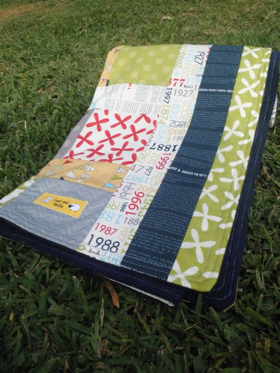 Baby boy blanket reunion by sweetwater for moda fabric for Children s corduroy fabric