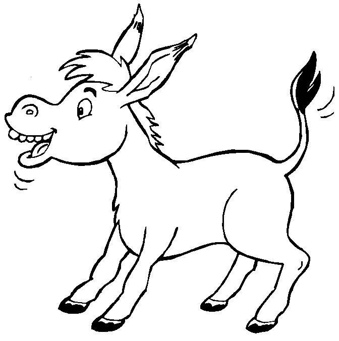 ezelvoor ezeltje prik kleurplaten dieren kleurplaten en