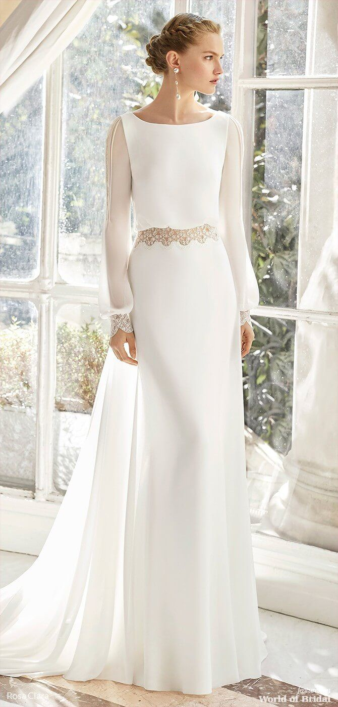 Rosa Clara 2019 Couture Wedding Dresses World Of Bridal Wedding Dresses Simple Modest Wedding Dresses Wedding Dress Guide