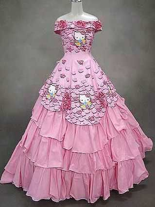 Hello Kitty wedding dress for