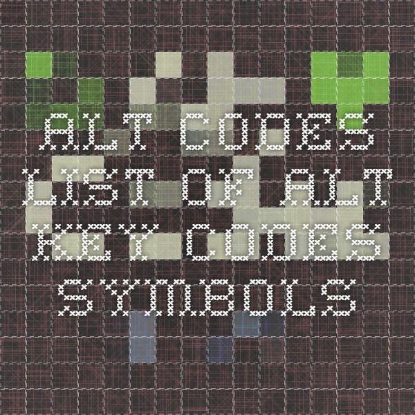 Alt Codes List of Alt Key Codes Symbols, arrows, stars, snowflakes, music notes, etc.