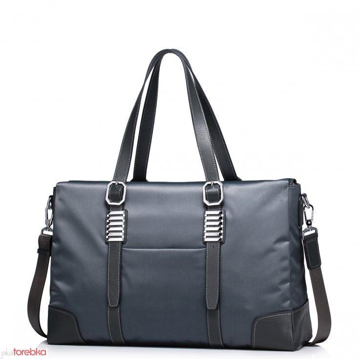 Pojemna męska torba na ramię / laptop Szara