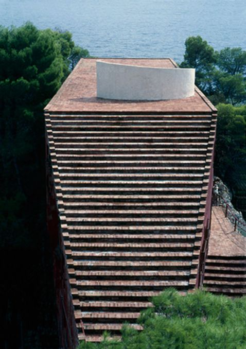 Casa Malaparte (1938-1942) by Curzio Malaparte and Adalberto Libera, Isle of Capri, Italy