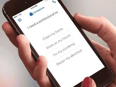 Modal view for Handybook App by João Oliveira Simões