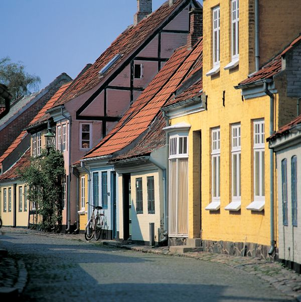 Street in Aeroeskoebing, #Denmark. Aeroeskoebing (Ærøskøbing) is considered one of the prettiest towns in Denmark and is well worth a visit. It is situated on the island of Aeroe (Ærø) about 3.5 hours drive from the ferry port of Esbjerg. http://ferrycrossings.org.uk/denmark/harwich-to-esbjerg/