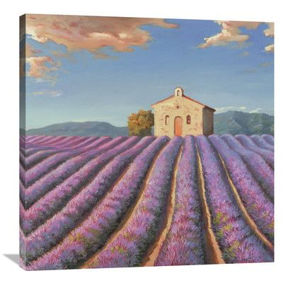Global Gallery 'Campi di Lavanda' by Adriano Galasso Painting Print on Wrapped Canvas Size: