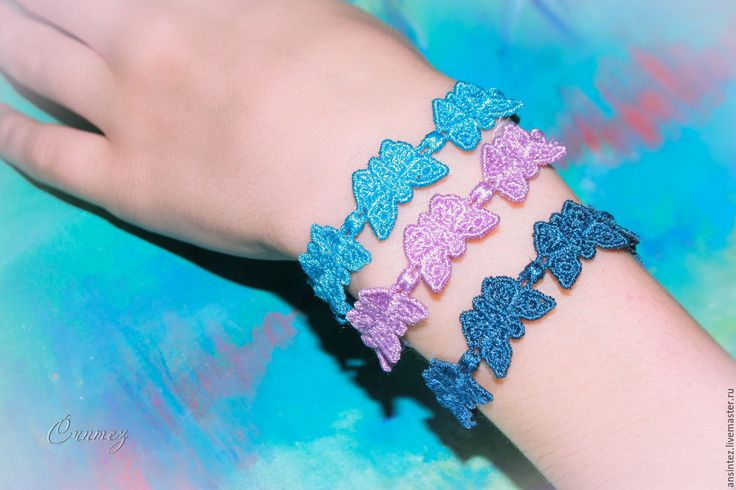 Buy embroidered eco bracelets hollow butterfly - combo, decoration with embroidery