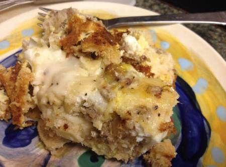 Biscuits & Gravy Breakfast Casserole Recipe | Just A Pinch Recipes