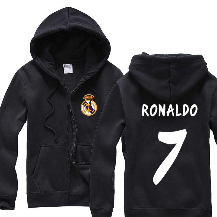 Ла лиги испанские чемпионы галактики флот вентиляторы поставки одежда 7 с роналду бархатная куртка на молнии толстовки зимние одежды