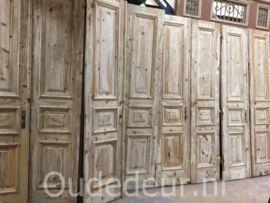 nr. set508 5 sets gelijke geloogde deuren, ook mooi als kastenwand   Dubbele deuren, setjes kastdeuren   Oudedeur - paneeldeuren :