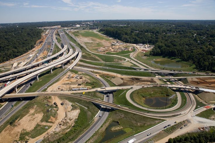 Prince Georges County Maryland Capital Beltway and entrance to National Harbor Maryland.