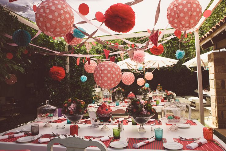 French Patisserie Christening Event @Am Villa In Ekali by De Plan V. villa, outdoor, garden, party area decoration, art de la table, hanging lanterns.