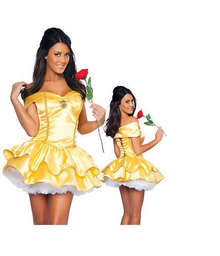 Aliexpress.com : Buy Gold Off Shoulder Snow White Princess Tutu Costumes For Ladies 2013 Women Halloween Cosplay Carnival Dress Plus Size M L XL from Reliable Gold Snow White Princess fancy dress queen adult costumes Carnival Halloween Women female costume Tutu Dress With Accessory suppliers on C  F Halloween Fashion Store $18.99