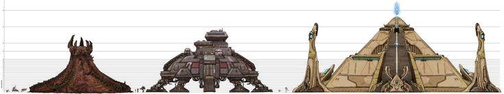 From Starcraft to Age of Empires: When Architecture Is The Game,Edificios de Starcraft a escala, vía sc2.gameguyz.com. Image