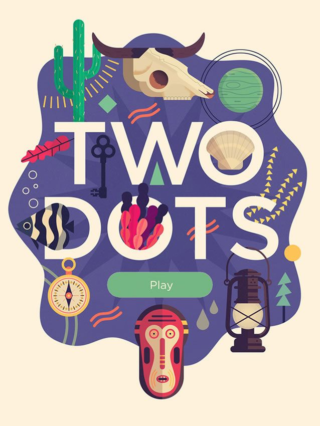 Two Dots Mobile Game App Splash Screen #UIdesign