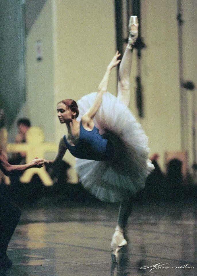 The incomparable Svetlana rehearsing