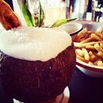 Tropical getaway in Surry Hills with this delicious Coco Colada overflowing with dreamy goodness  #rumbar #cocktails #rosiecampbells #cococolada #pinacolada #hotdays #colddrinks #tropicalbuzz