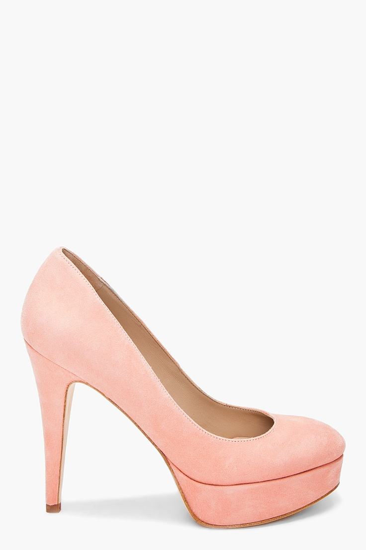 apricot suede elliat pumps ++ by malene birger