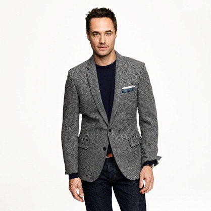 Just waiting for a dapper groom to wear this Ludlow sportcoat in Colburn English wool tweed from J Crew!