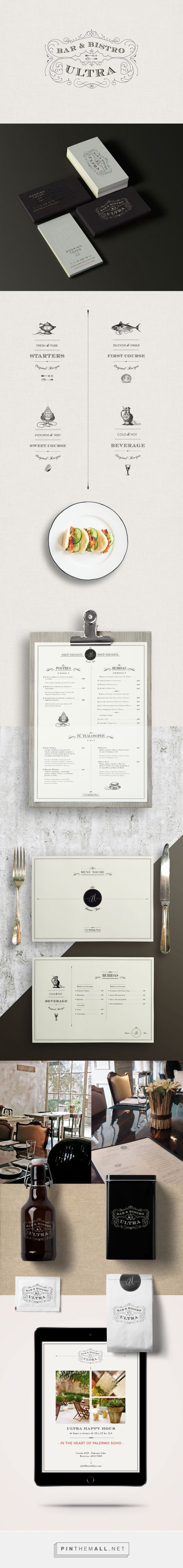Ultra Bistro Restaurant Branding and Menu Design by Bunker3022 | Fivestar Branding Agency – Design and Branding Agency & Inspiration Gallery
