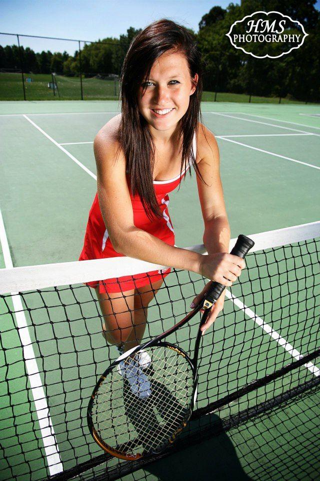 Sports Senior Portrait  Tennis Different lens but like angle