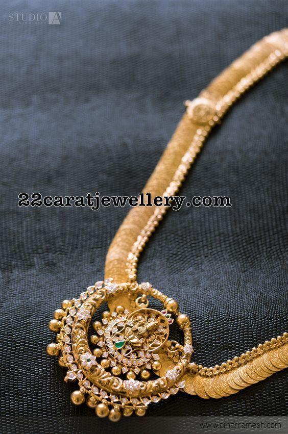 Kasumala with Chandbali Locket - Jewellery Designs