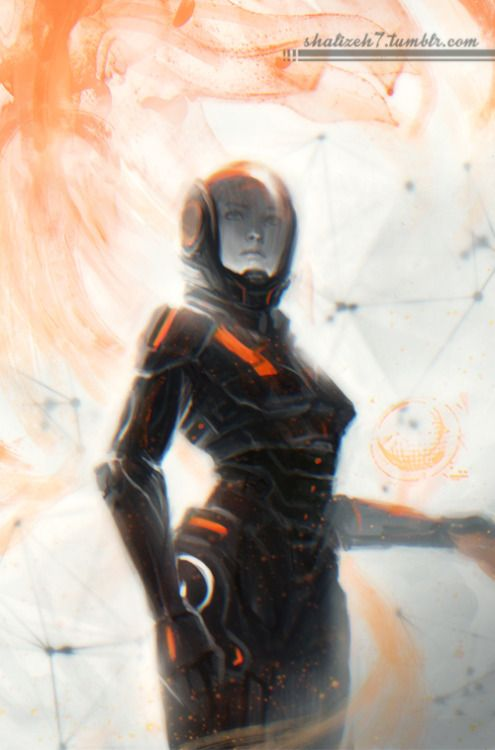 shalizeh7:  A messy evening sketch I did after watching a new trailer for Mass Effect: Andromeda. I'm so excited to learn more about the game, hopefully very soon <3