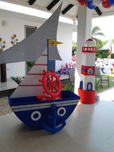 17 ideas sobre fiesta n utica en pinterest fiesta con - Decoracion de barcos ...
