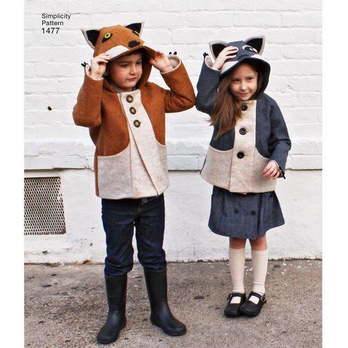 Child's Fox and Racoon Felt Jacket