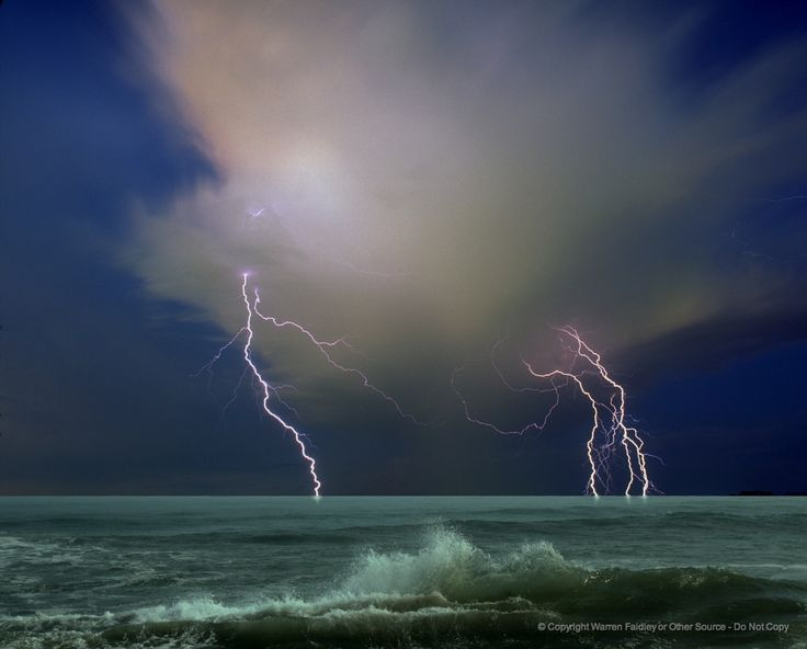 52.JPG - Ocean storm. Editorial note: Composit image of two separate ...