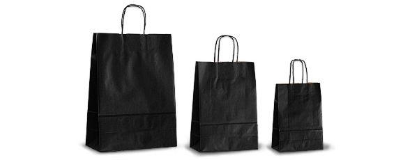 Черные бумажные пакеты