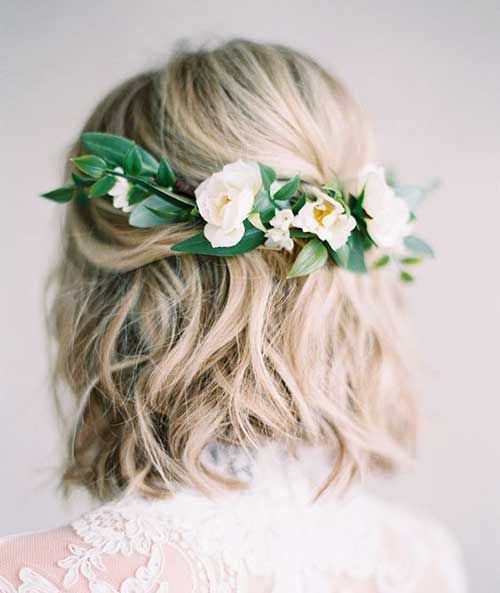 Wedding ceremony Coiffure with Flowers