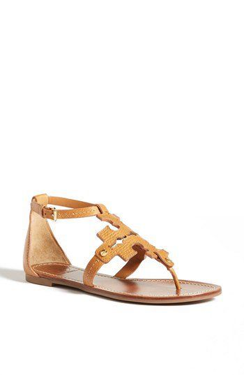 36d45d3d3 Tory Burch Phoebe Thong Sandal Tan 8 M Offer Stores