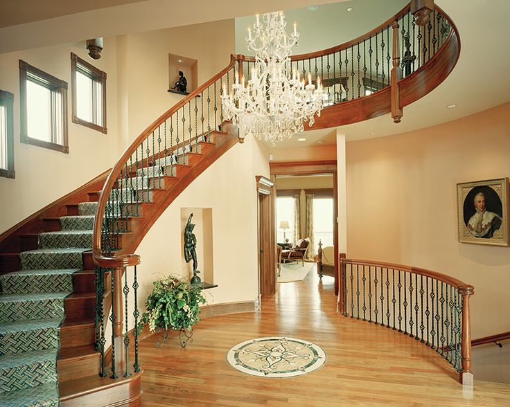 Stunning foyer staircase plan 065s 0036 for House plans with stairs in foyer