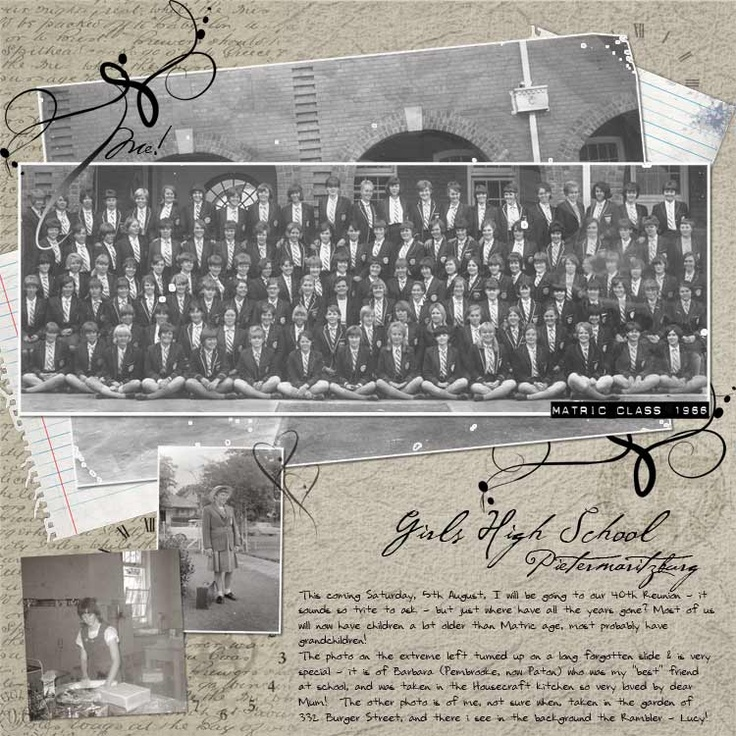 Girls High School, Pietermaritzburg - Matric Class 1966