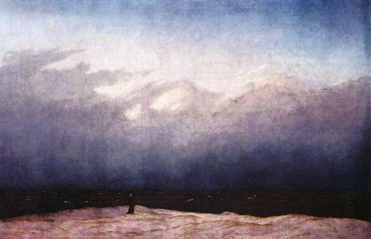Monaco in riva al mare, Caspar David Friedrich, 1808-10. Olio su tela, 110x171,5 cm. Berlino, Alte Nationalgalerie