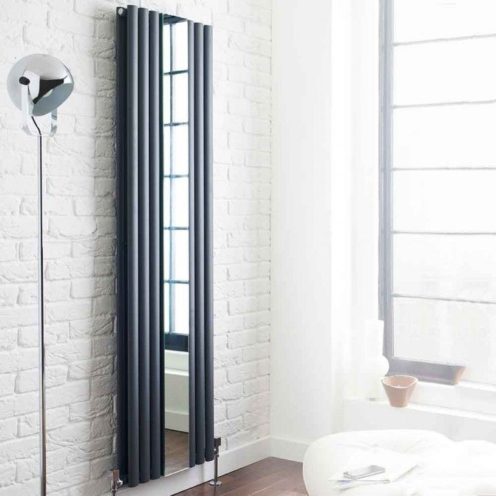 The addition of a mirror between the radiator panels makes the Hudson Reed Revive the perfect radiator for modern bedrooms and hallways. Find out more on our website. #modernradiators