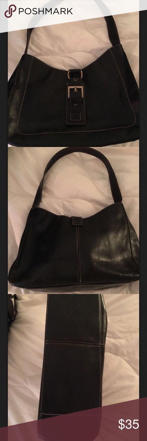 "Vintage Etienne Aigner Bag Hobo Shoulder Black Vintage Etienne Aigner Handbag Purse Hobo Shoulder Bag Black Leather 7x11x3 with a 12"" drop Etienne Aigner Bags Hobos"