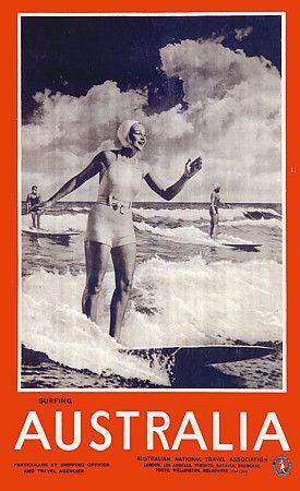 Vintage Australian Travel Posters Art Prints