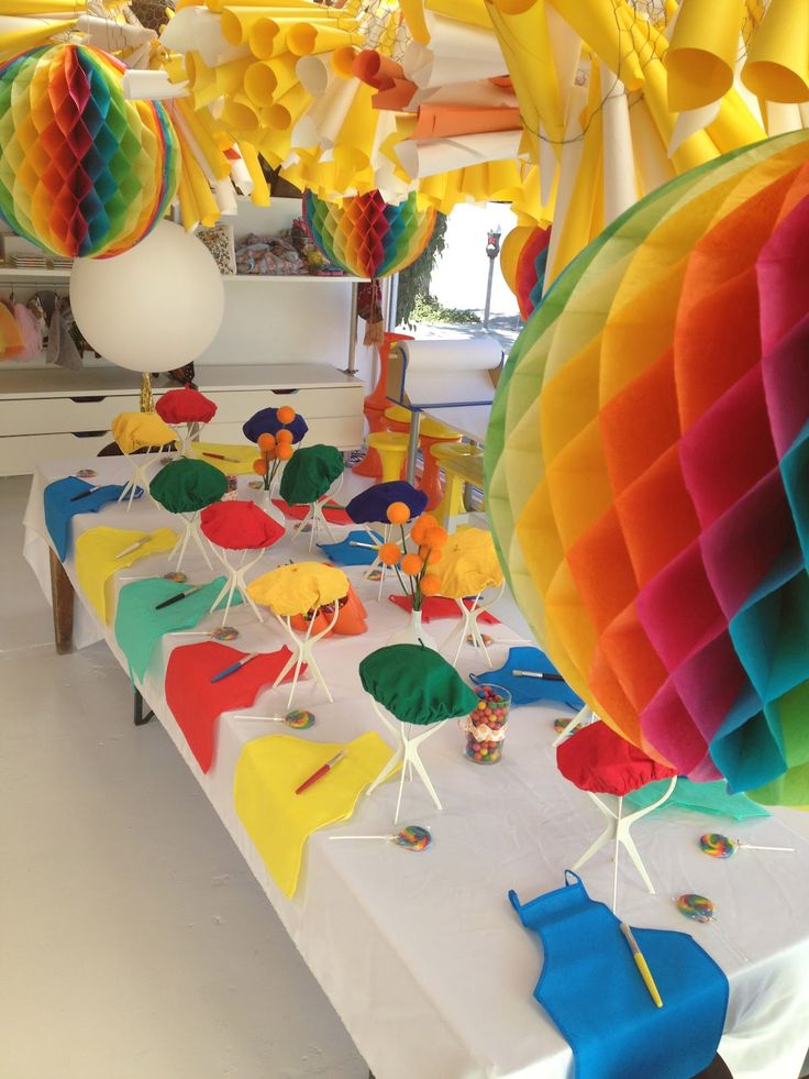 Crayon Rainbow Party Decorations And Activities