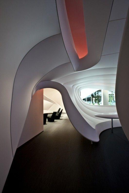 Vodafone CEC by IO Studio - Futuristic Interior [Future Architecture: http://futuristicnews.com/category/future-architecture/ Futuristic Furniture: http://futuristicshop.com/category/futuristic-furniture/]