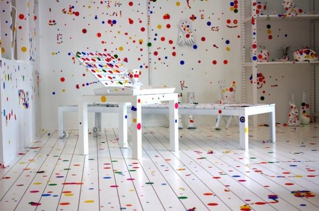 The Obliteration Room par Yayoi Kusama