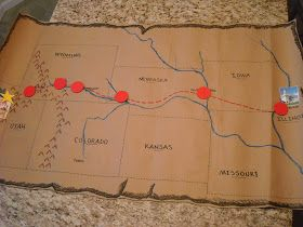 Glancing through some posts about Pioneer Day Singing Times, I ran across  this  one.  It reminded me that I HAD a trek map... handed down ...