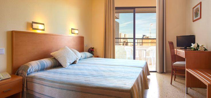 Las habitaciones del hotel Primavera Park en Benidorm