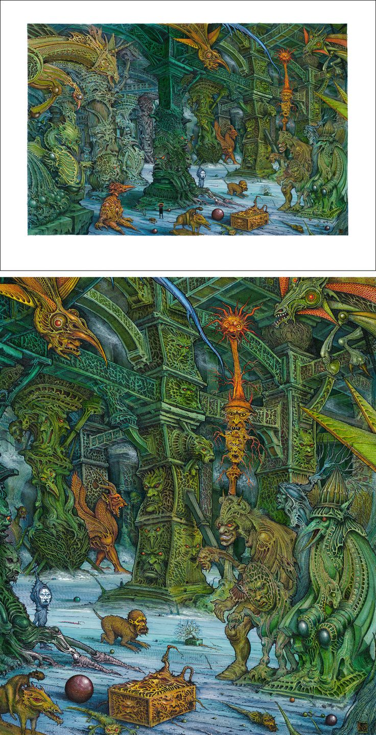 The Hall of Bright Carvings by Ian Miller