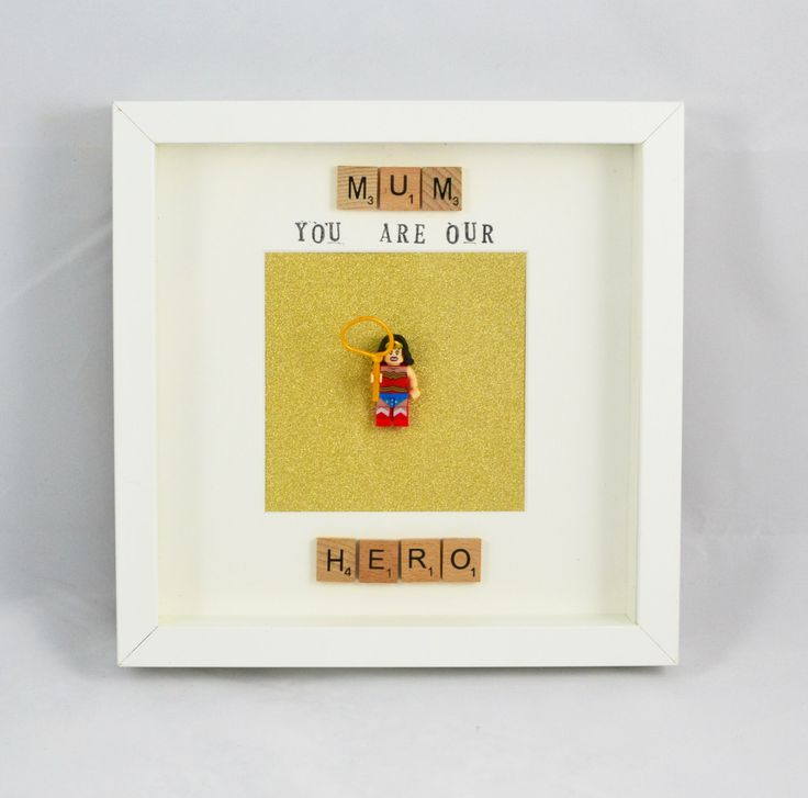 A personal favourite from my Etsy shop https://www.etsy.com/uk/listing/470029285/personalised-mum-you-are-our-hero-lego